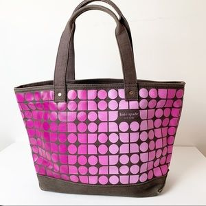 Kate Spade Logo Geometric Tote Bag Canvas